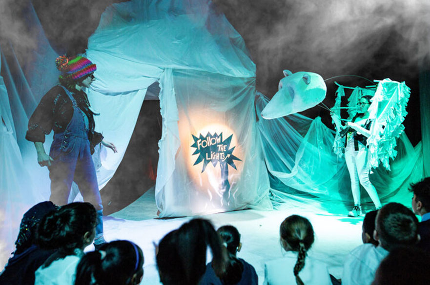 Year 2 Devised project with Red Earth Theatre 'Soonchild', photo credit Amelia Rizzo