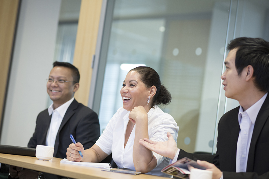 professionals studying an MBA course at NTU