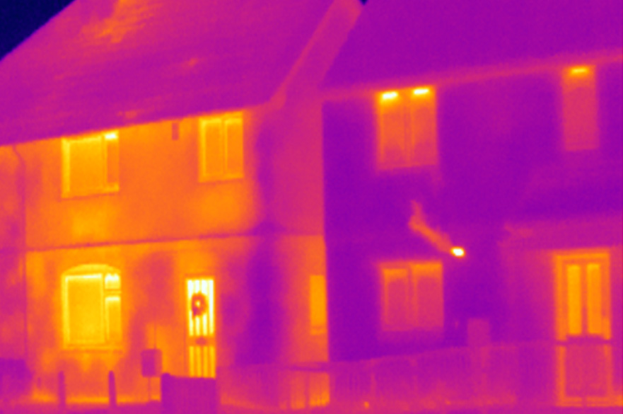 Infrared image of housing
