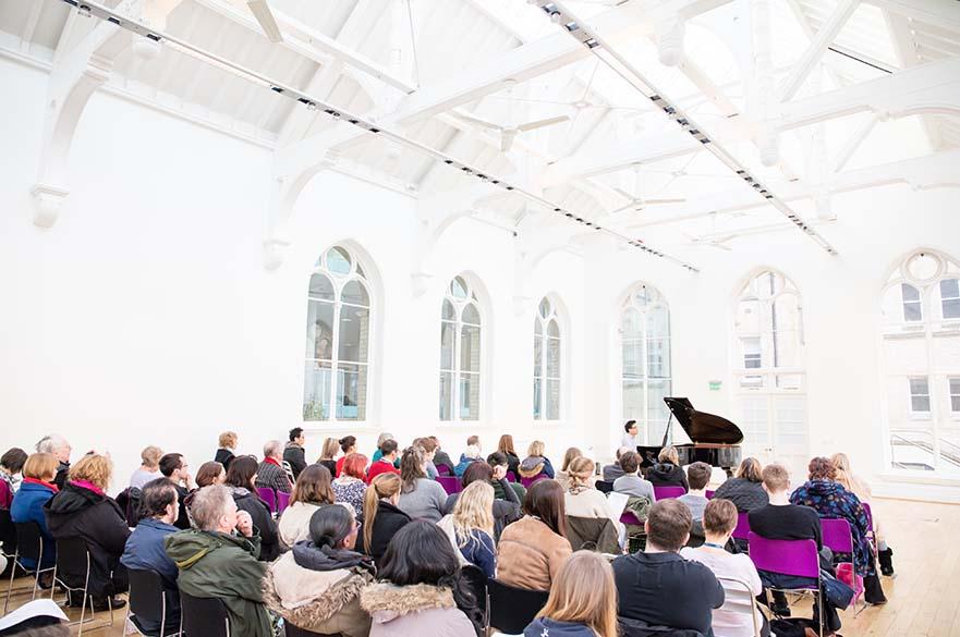 piano recital in hall