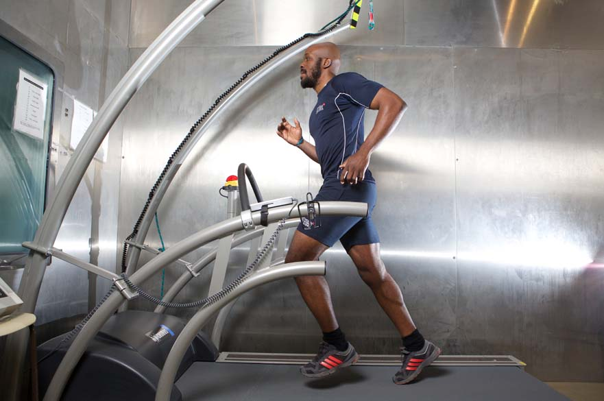 Person using running machine