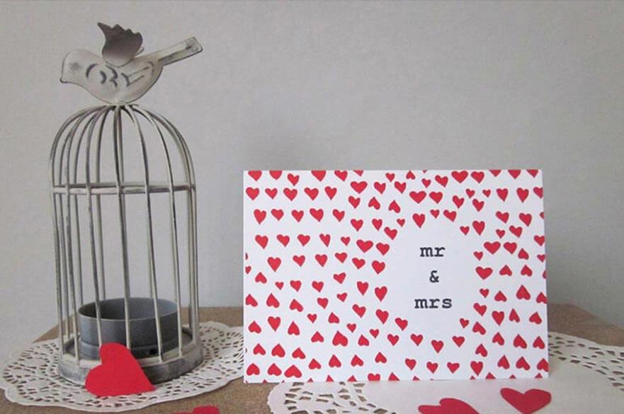 Valtines card and minature birdcage