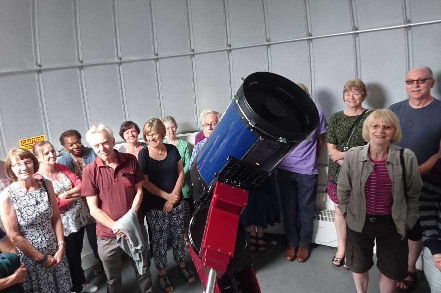 Audience with telescope