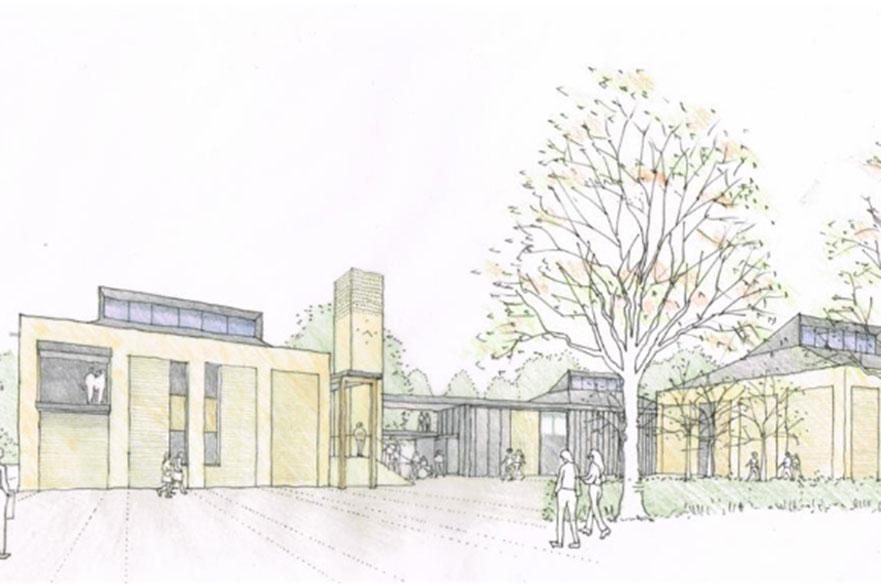 Brackenhurst Campus artist impression
