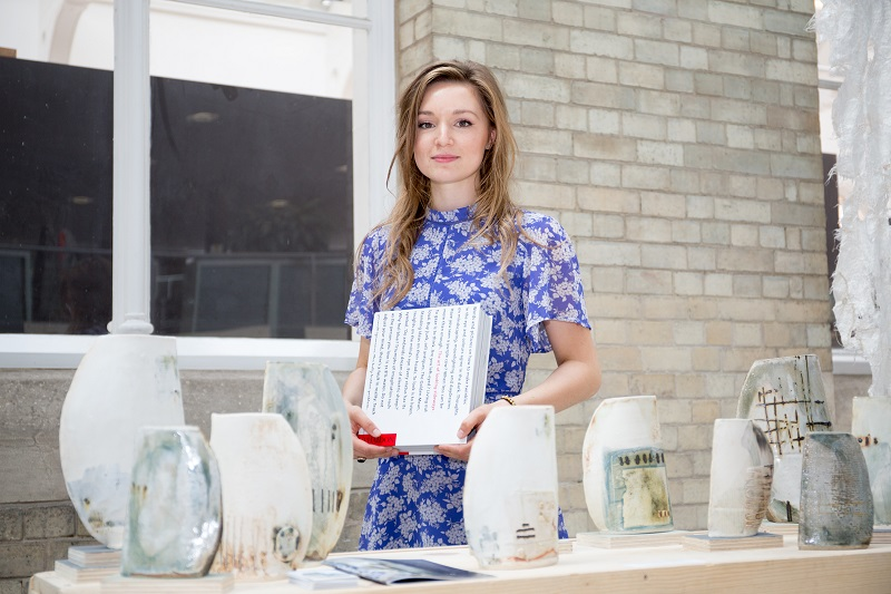 BA (Hons) Decorative Arts student Isabelle Pass pictured at the #NTUDEGREESHOW