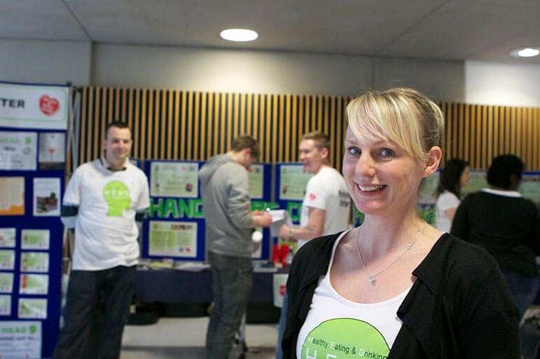 People at Health and Social Care student exhibition