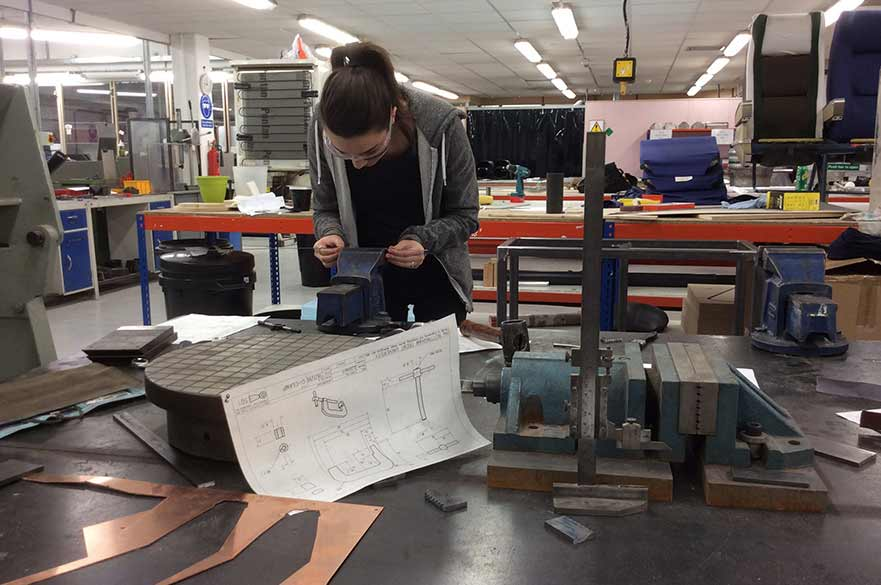 Student using our workshops, Maudsley building