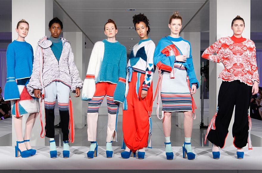 Models wearing knitwear garments by EIlish Pick