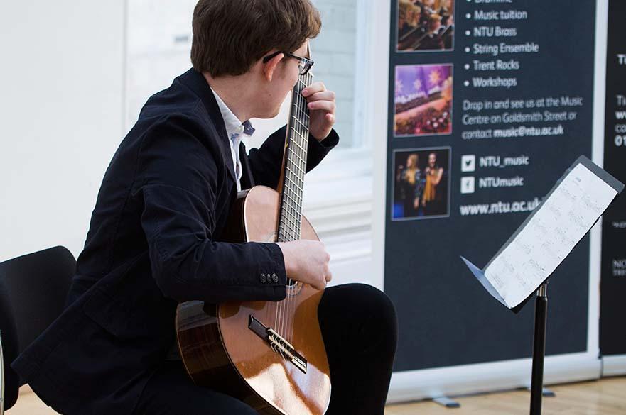 Guitar player at concert