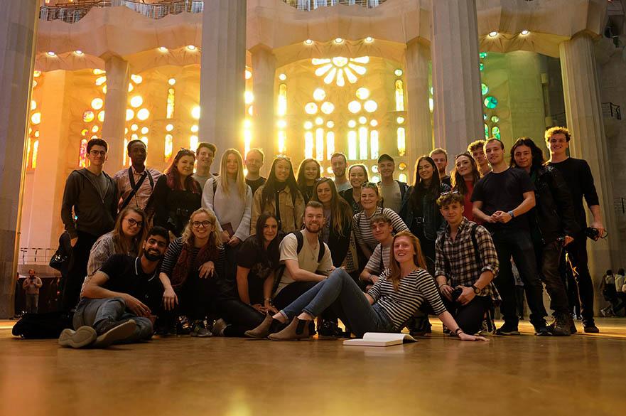 BArch students at Sagrada Familia