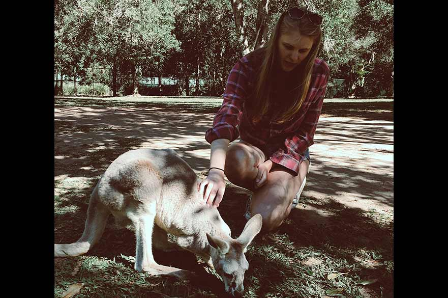 Ellie exploring Australia