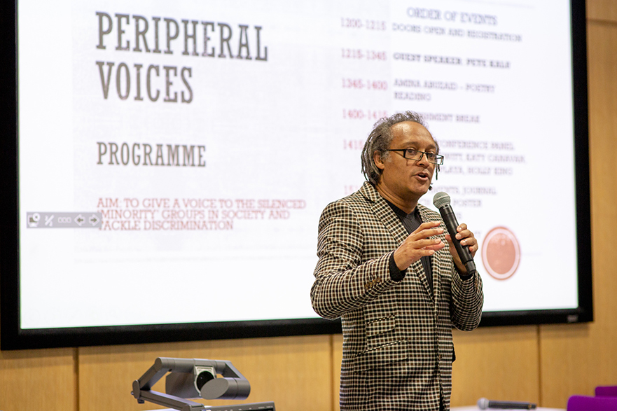 Peter Kalu's talk at the Peripheral Voices conference