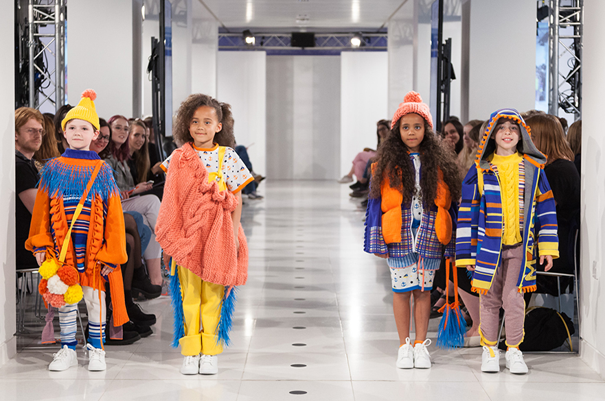 Children at fashion show