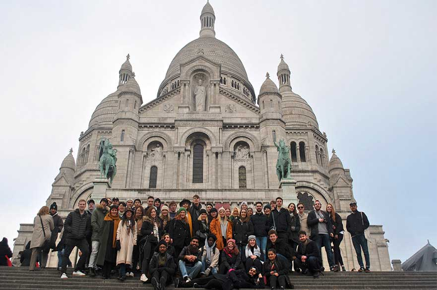 Students visit Paris as part of the course