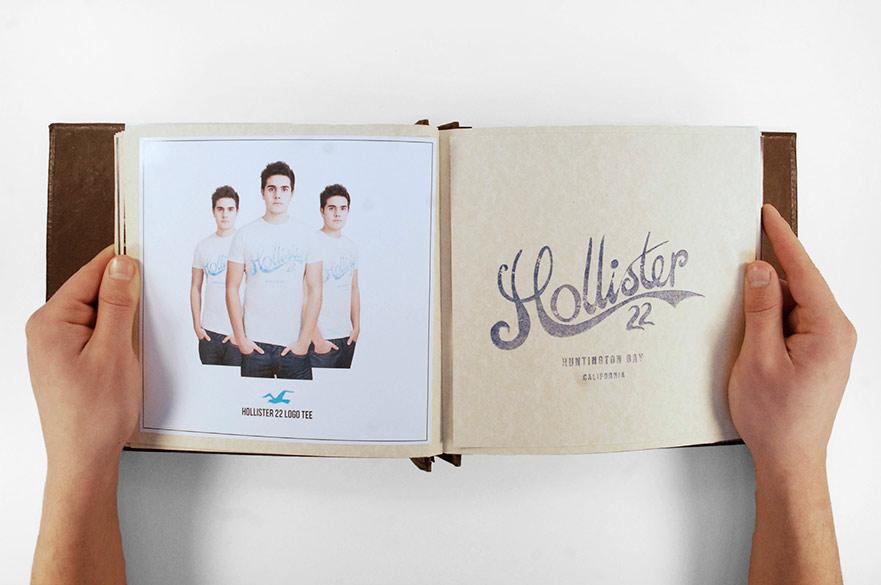 Hands holding design book