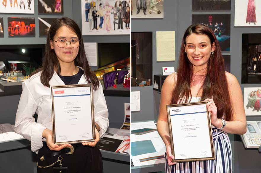 Suwoo Son and Rebecca Constable with their respective awards