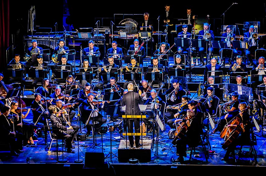 The BBC Concert Orchestra playing on stage.