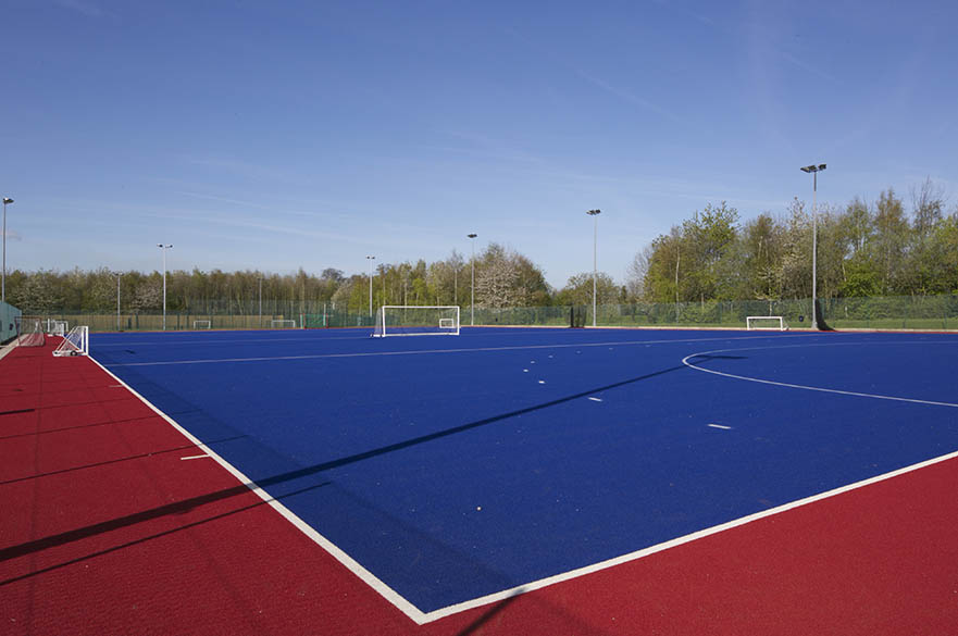 Outdoor sports facilities on the Clifton Campus