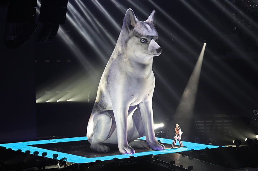 Miley Cyrus Stage dog prop