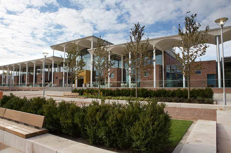The Pavilion building