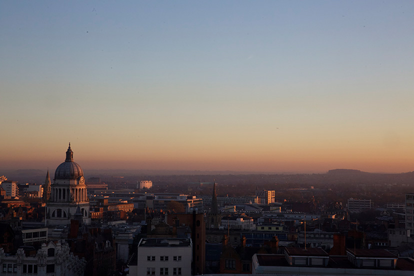 Nottingham Skyline Sunset