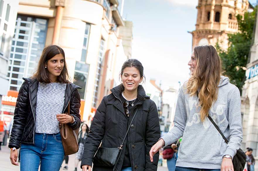 Students Nottingham High Street
