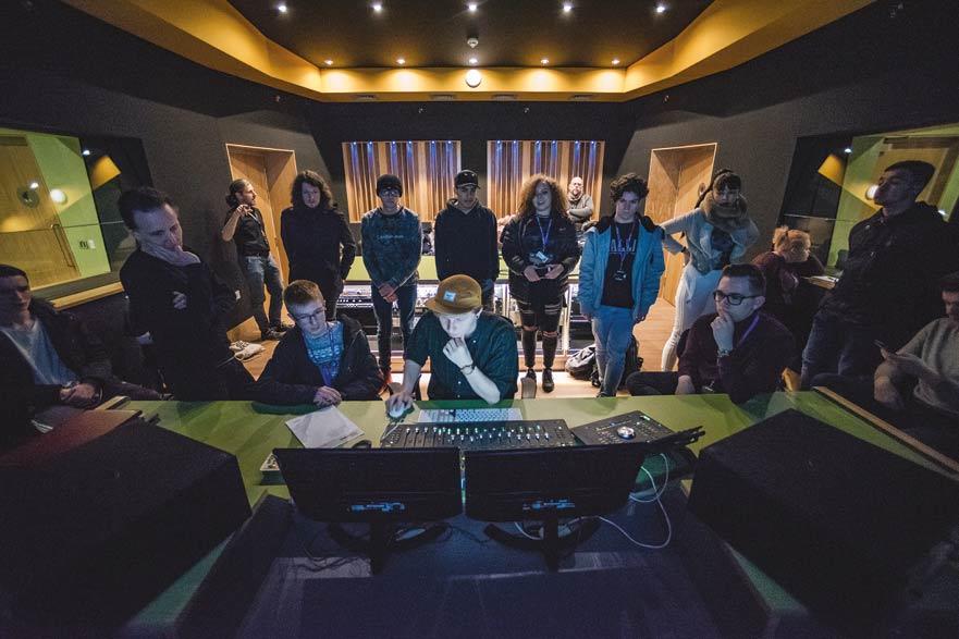 students working in Studio 2