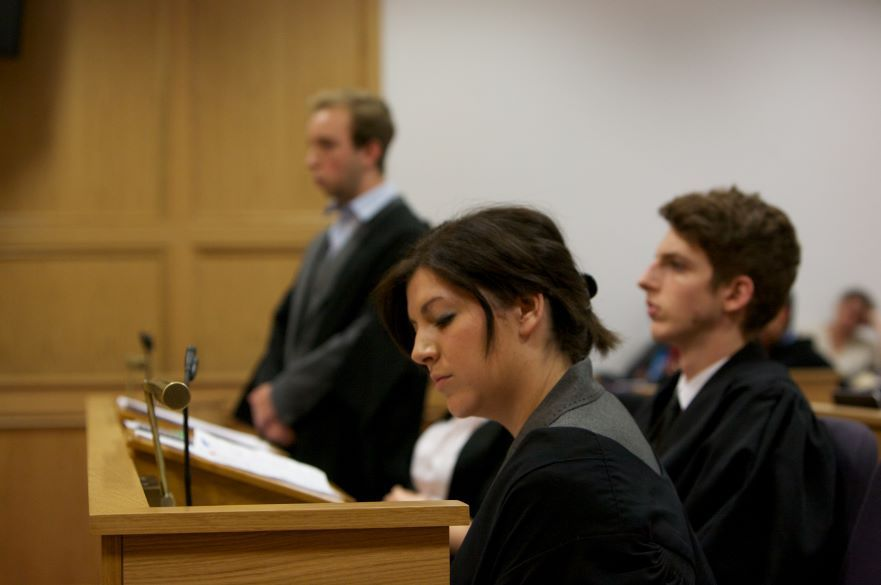 Witness giving evidence in court