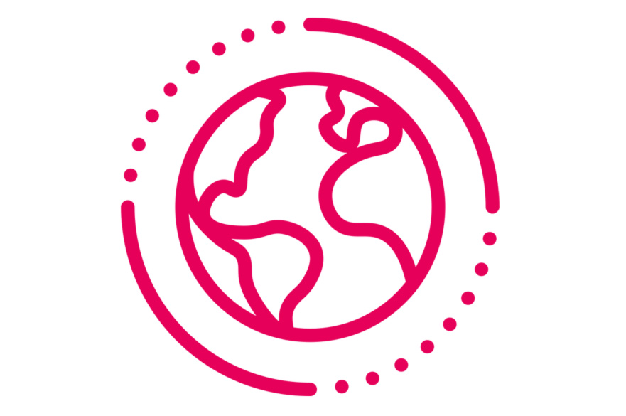 Connecting globally Earth icon