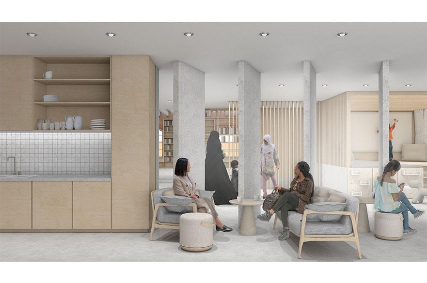 The Una Centre by BA (Hons) Interior Architecture and Design student, Jessica Balm.