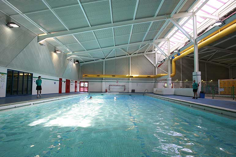swimming pool at Southwell Leisure Centre
