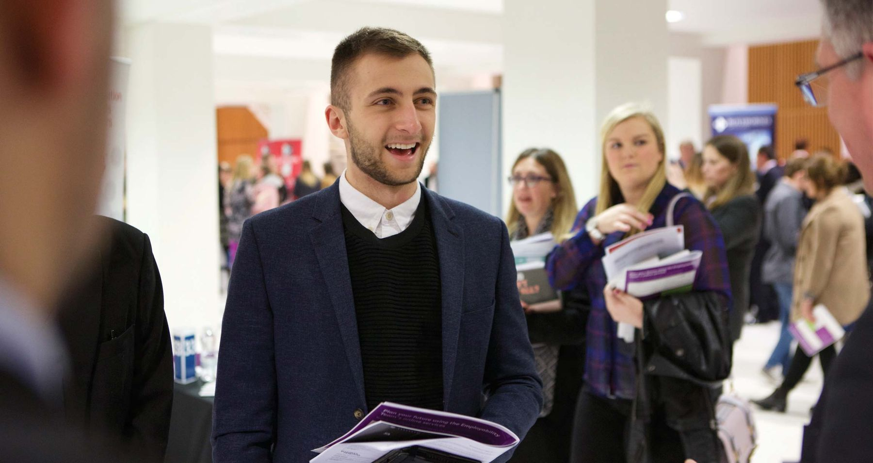 Student at employability fair