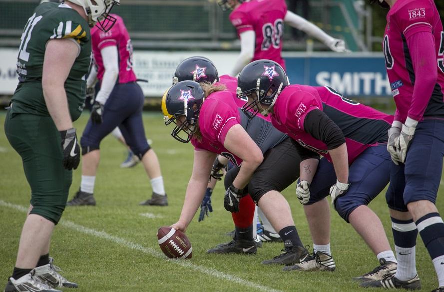 NTU Player playing american football