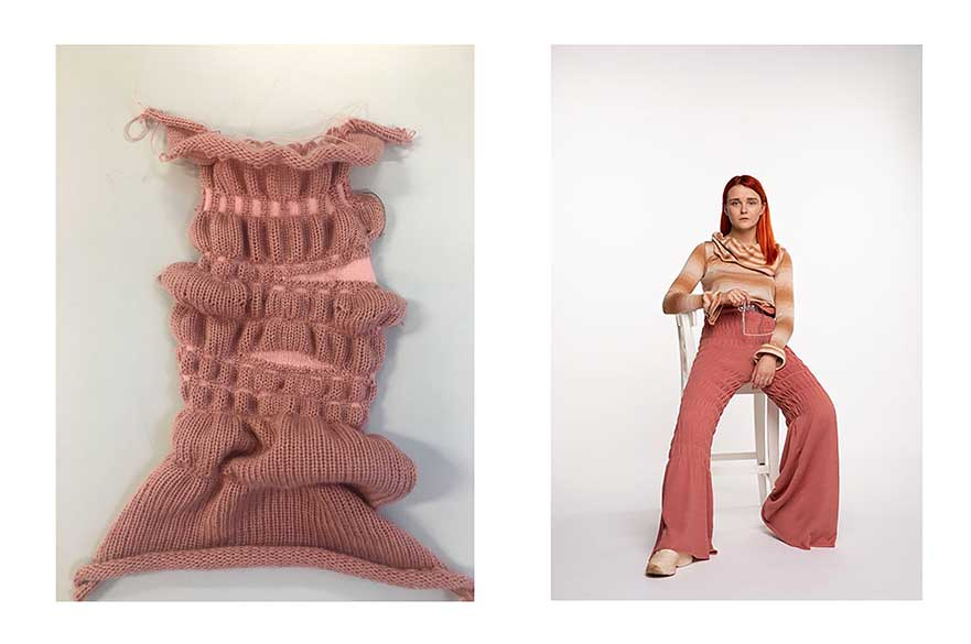 From The Hyper Conceptual Body, Zarah Ahmed, BA (Hons) Fashion Knitwear Design and Knitted Textiles, 2019.