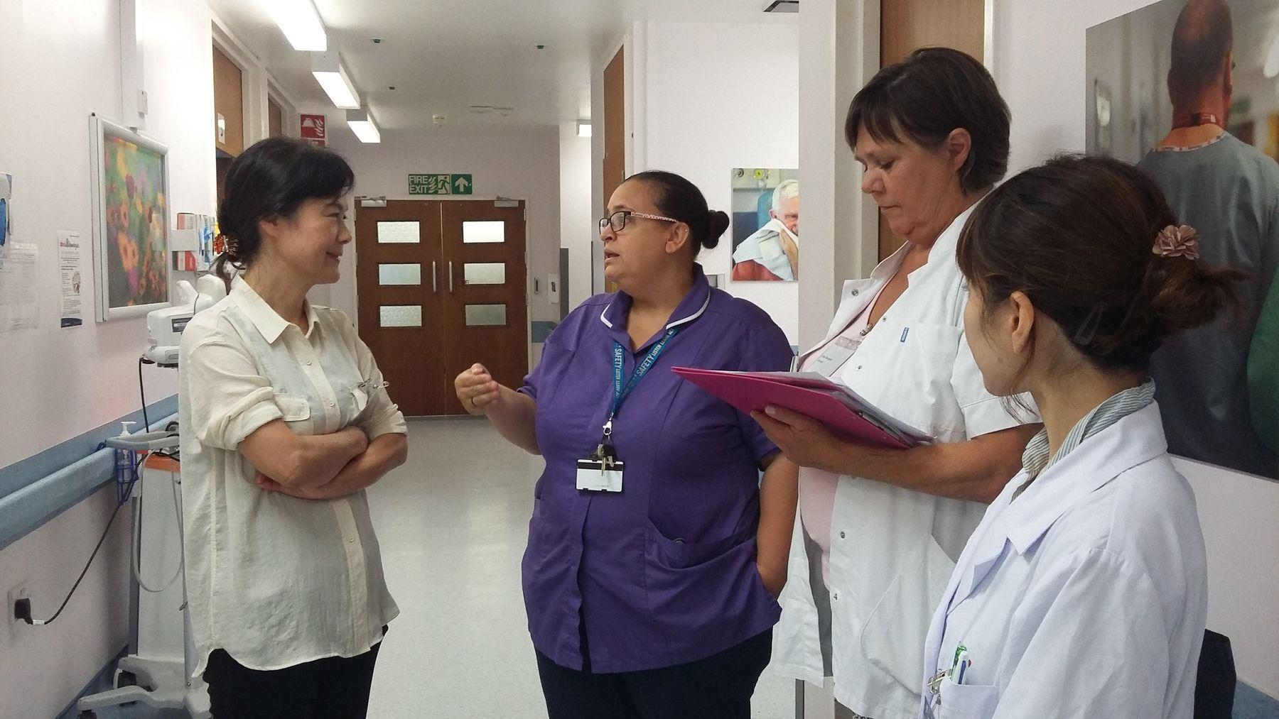 Students Visiting Hospital Ward