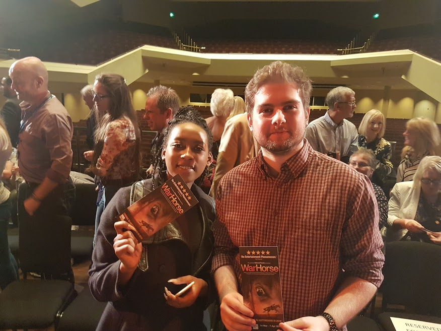 Helen and Aaron at the Warhorse press conference