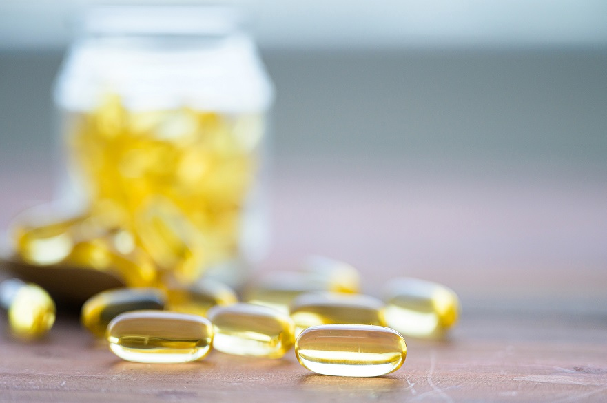 Omega 3 food supplement tablets