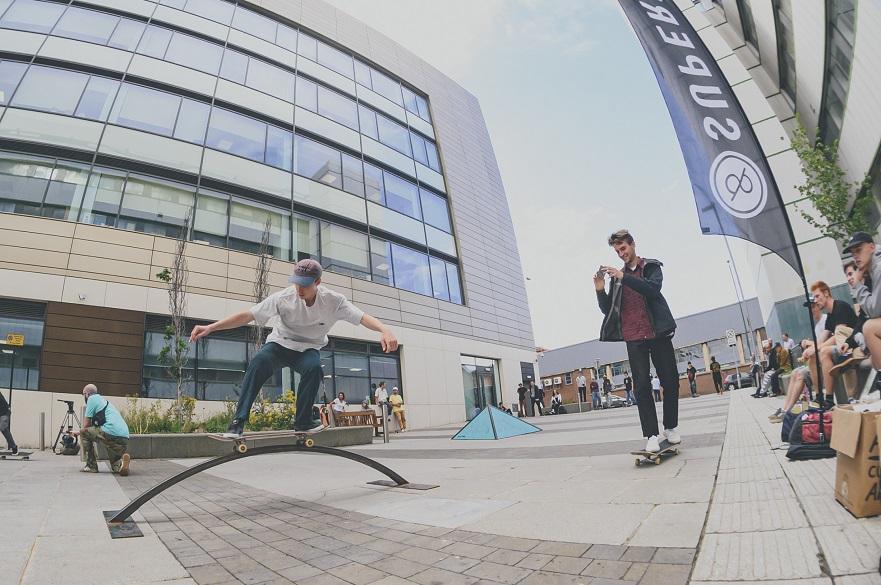 Skateboarders in Nottingham