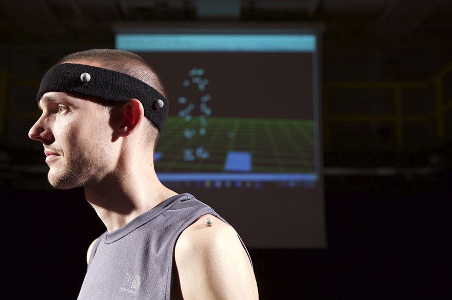 Man in Motion capture gear