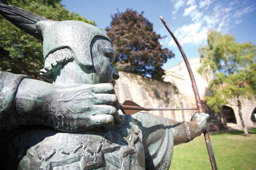 Robin Hood statue at Nottingham Castle