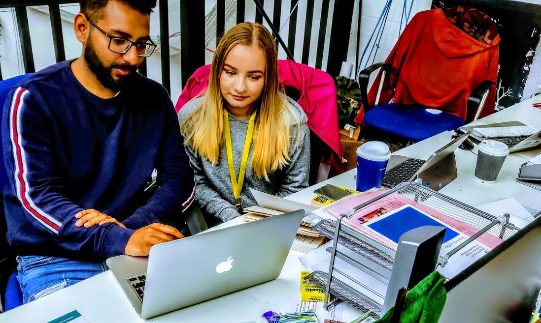 Justyna and Romeel at G4N 2019