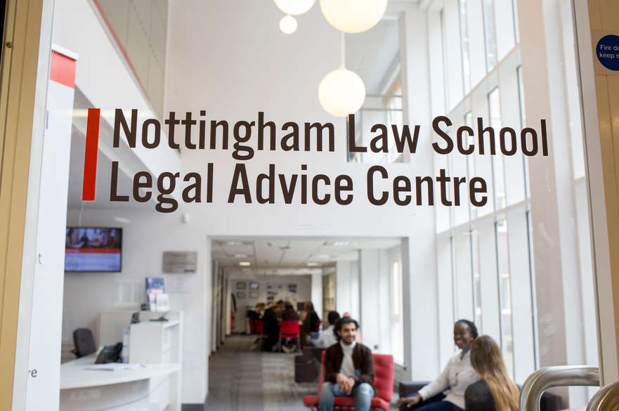 Doorway of the Legal Advice Centre