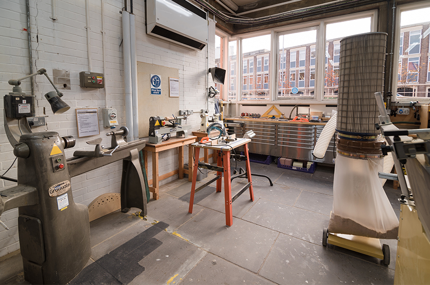 Woodworking workshop and equipment