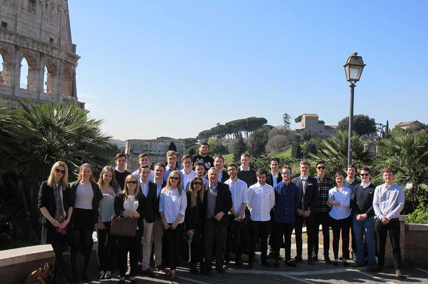 Property students on a trip to Rome