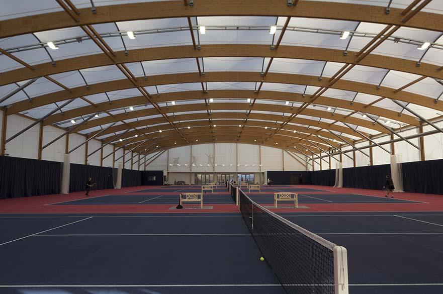 Indoor tennis centre on Clifton Campus