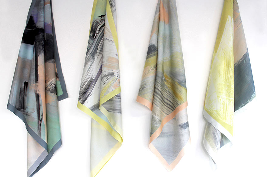 4 silk scarves