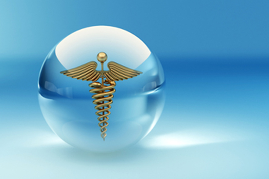 Symbol of medicine. Abstract background