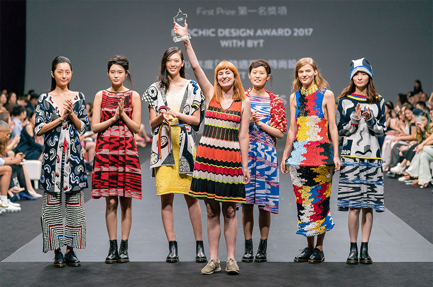Kate Morris with her winning collection. Photo courtesy Redress.
