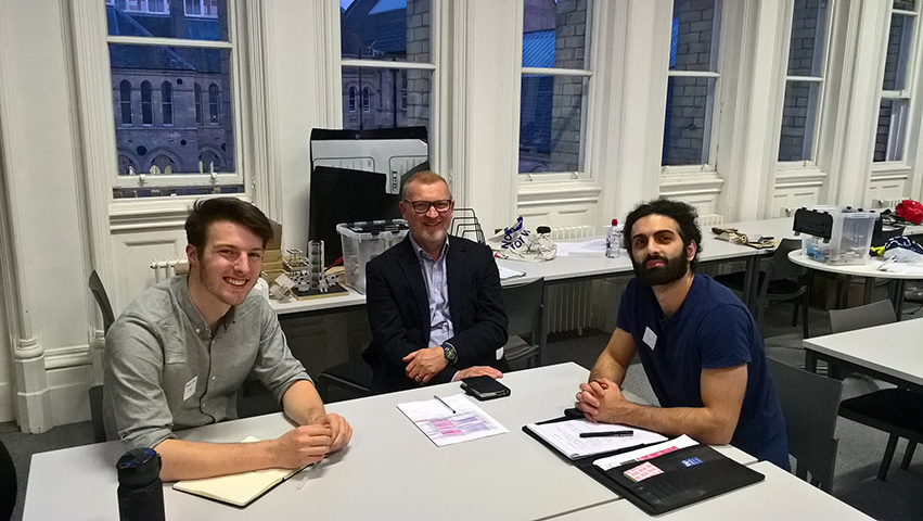 RIBA mentor with students