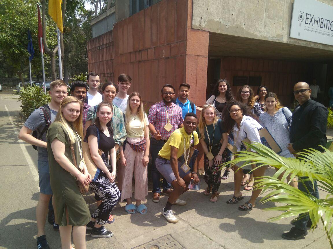 NTU students at Panjab art exhibition